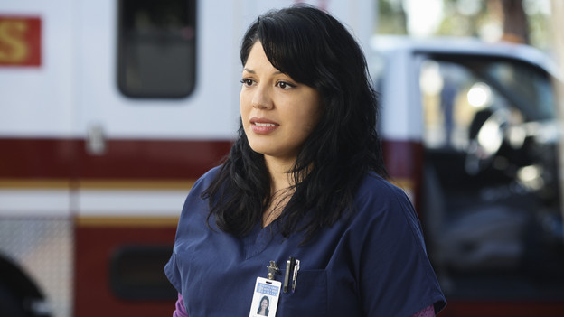 "GREY'S ANATOMY - ABC's ""Grey's Anatomy"" concludes the season with a two-hour shocker, THURSDAY, MAY 20. In the first hour, entitled ""Sanctuary"" (9:00-10:00 p.m., ET), Seattle Grace Hospital is hit with a crisis like no other in its history. Then, in the second hour, ""Death and All His Friends"" (10:00-11:00 p.m., ET), Cristina and Meredith's surgical skills are put to the ultimate test. (ABC/SCOTT GARFIELD)SARA RAMIREZ"