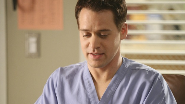 "GREY'S ANATOMY - ""Here Comes the Flood"" - George tries to take his residency exam, but a leaky pipe might have other ideas, on ""Grey's Anatomy,"" THURSDAY, OCTOBER 9 (9:00-10:01 p.m., ET) on the ABC Television Network. (ABC/DANNY FELD) T.R. KNIGHT"