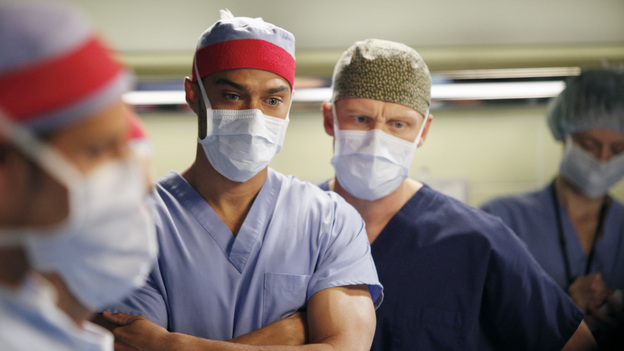 "GREY'S ANATOMY - ""This Magic Moment"" - The doctors split into teams for a risky surgery involving conjoined twins; Bailey recruits Meredith to be a buffer between her and Ben when he puts pressure on moving their relationship to a more serious level; Richard teaches Alex a tough lesson in the OR; meanwhile Teddy questions Cristina about what exactly happened to Henry during his surgery, on Grey's Anatomy, THURSDAY, JANUARY 12 (9:00-10:02 p.m., ET) on the ABC Television Network. (ABC/KELSEY MCNEAL)JESSE WILLIAMS, KEVIN MCKIDD"