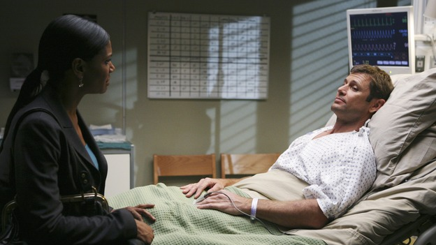 "PRIVATE PRACTICE - ""Ex-Life"" - As Archer recoups from surgery, Derek has Addison work with his pregnant neuro patient; after Sam suffers a sudden asthma attack, Bailey and Naomi work together to find the root cause of Sam's sudden attack; and at Oceanside Wellness, Cooper, Violet and Pete work together to treat a mother suffering from postpartum depression, on ""Private Practice,"" THURSDAY, FEBRUARY 12 (10:02-11:00 p.m., ET) on the ABC Television Network. (ABC/KAREN NEAL) AUDRA MCDONALD, GRANT SHOW"