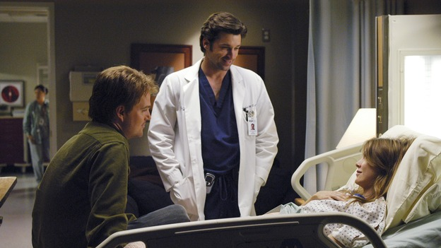 GREY'S ANATOMY - &quot;What I Am&quot; - Addison doubts her abilities as a doctor, Cristina pushes Burke's rehabilitation, one of the interns suffers their own medical emergency, and Izzie receives the surprise of her life, on &quot;Grey's Anatomy,&quot; THURSDAY, OCTOBER 12 (9:00-10:01 p.m., ET) on the ABC Television Network. (ABC/GALE ADLER) CHRIS O'DONNELL, PATRICK DEMPSEY, ELLEN POMPEO