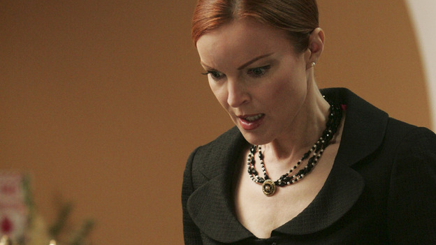 "DESPERATE HOUSEWIVES ""Next"" - Bree is horrified by the tie Rex is wearing at his own funeral - (ABC/VIVIAN ZINK) MARCIA CROSS"