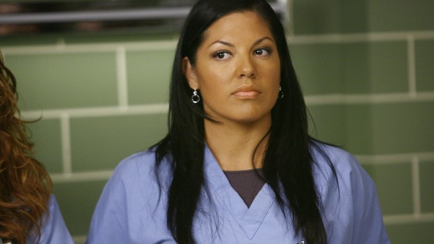 GREY'S ANATOMY - &quot;Dream a Little Dream of Me&quot; - Dr.&nbsp;Callie&nbsp;Torres, on &quot;Grey's Anatomy,&quot; THURSDAY, SEPTEMBER 25 (9:00-11:00 p.m., ET) on the ABC Television Network. (ABC/SCOTT GARFIELD) SARA RAMIREZ