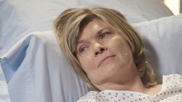 GREY'S ANATOMY - &quot;Heart-Shaped Box&quot; - The doctors become nostalgic when George O'Malley's mother, Louise, returns to Seattle Grace for medical help after a botched surgery at a neighboring hospital; the residents are inspired by a medical miracle when they witness a harvested heart that continues to beat outside the body; a new pediatric fellow excites Arizona and makes Alex feel threatened; Jackson lets his suspicions about Mark and Lexie interfere with his work; and Henry and Teddy have their first marital fight when he expresses interest in pursuing medical school, on &quot;Grey's Anatomy,&quot; THURSDAY, NOVEMBER 3 (9:00-10:02 p.m., ET) on the ABC Television Network. (ABC/RANDY HOLMES)DEBRA MONK